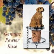 DTB09 Golden Retriever Wine Bottle Stopper - Conversation Concepts