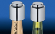 Brushed Wine & Champagne Stopper Set - Fine Stainless Steel Barware for Your Enjoyment