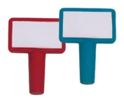 DCI Re-Usable Write-On Bottle Stopper Bottle Notes, Assorted Red and Blue