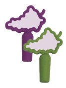 DCI Re-Usable Write-On Bottle Stopper Grape Notes, Assorted Purple and Green