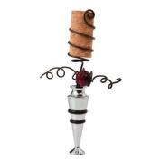 Bronze,Metal Spring Cork Screw Wine Stopper,Metal and Cork,1x8.9cm x 14cm