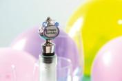 Wine Stopper - Happy Birthday Charm