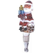 Hand-blown Santa with Presents Wine Stopper by Yurana Designs - BS050