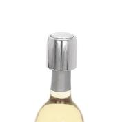 Torre & Tagus Vint Locking Wine Stopper, Chrome