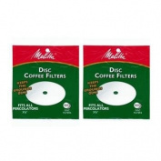 Melitta 8.9cm White Disc Coffee Filters