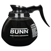 12-Cup Glass Carafe for Pour-O-Matic Bunn Coffee Makers, Black Handle