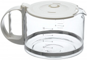 Capresso 4451.02 10-Cup Glass Replacement Carafe with Lid for Capresso Coffeemaker, White