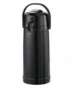 Service Ideas Eco Air Shiny Black Plastic 2.2 Litre Airpot - ECAL22PBLK