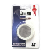Bialetti 4-Cup Stainless Replacement Gasket / filter Pack