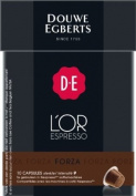 Douwe Egberts L'OR Espresso Forza, Pack of 6, 6 x 10 Capsules, Nespresso compatible