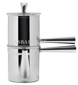 Neapolitan Coffee Maker 1-2 Cup Size - Stainless Steel - Made in Italy