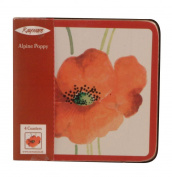 Rayware Alpine Poppy Coasters, Set of 4