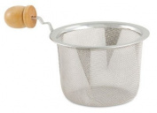 7.6cm Diameter Stainless Steel Mesh Strainer with Wooden Handle