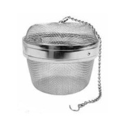 New Twist-Lock Spice Ball Tea Infuser Herb Infuser, Stainless Steel, Large Size