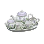 Violet Trellis Doll Size Children's Tea Set
