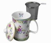 Ashdene Kensington Bone China 3-Piece Infuser 240ml Mug Set in Gift Box