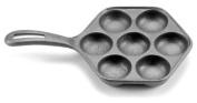 Norpro Cast Iron Danish Aebleskiver Pan Makes 7 Filled Pastries 17cm New