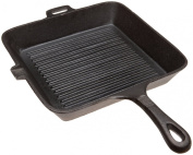 Old Mountain Pre Seasoned 10108 26.7cm x 4.4cm Square Grill Pan with Assist Handle