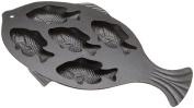 Old Mountain Pre Seasoned 10145 5 Impression Fish Cornbread Pan, 41.3cm x 24.1cm