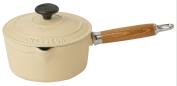 Chasseur Cast Iron 18cm, 1.5ltr Cream Saucepan And Lid,