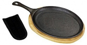 Bayou Classic 7408 Fajita Pan with Wooden Tray
