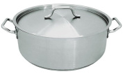 Update International SBR-25 Stainless Steel Brazier with Cover, 23.7l