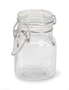Small Glass Jars with Locking Cannister Style Lids - 7.6cm x5.1cm x5.1cm ~LOT of 6 Jars