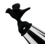 Alessi 9093 B Replacement Bird Shaped Whistle Black