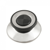Kitchen Replacement Plastic Metal Cover Pot Lid Knobs Black Silver Tone