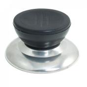 Black Silver Tone Plastic Metal Cookware Pot Pan Skillet Lid Replacement Knob