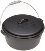 Old Mountain Pre Seasoned 10112 7.6l Dutch Oven with Dome Lid and Spiral Bail Handle