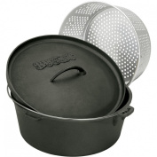 Bayou Classic Dutch Ovens 11.4l Cast Iron Dutch Oven With Basket