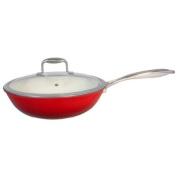 Le Chef Light Enamelled Cast Iron Stir Fry 4 ½-Qt.