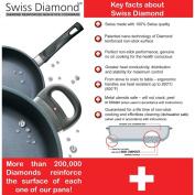 Swiss Diamond Nonstick 27.9cm x 43.2cm Cast Aluminium Double-Burner Griddle