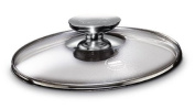 Berndes 007028 11 in. Tempered Glass Lid with Stainless Knob