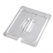 Carlisle Foodservice Universal Clear 1/2 Size Hand. / Notched FP Lid