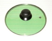 "Lid 20cm/8"" diameter Guaranteed quality Green colour see through glass clear vision"