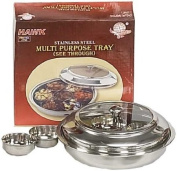 STAINLESS STEEL 7-SMALL 1-LARGE SERVING BOWL SET