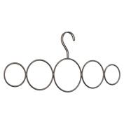 InterDesign Classico Over-the-Rack 5-Loop Scarf Holder, Bronze