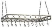 Old Dutch International 91.4cm x 109.9cm x 21cm Antique Pewter Rect Pot Rack with 16 Hooks, RM