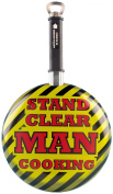 Boxer Gifts Stand Clear Man Cooking Frying Pan with Bottle Opener