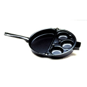 Norpro Nonstick Omelette Pan with Removable 3 Egg Poacher