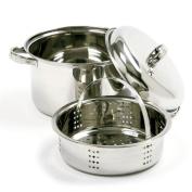 Norpro 3.8l Stainless Steel Steamer Cooker 3 Piece Set