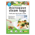 25-Pack Large Quickasteam Microwave Steam Cooking Bags - Faster, Healthier No-Fuss Cooking - Made in UK