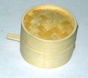 """Bamboo Steamer 2pcs 9cm/3.5"""" Diameter 3cm Deep Superior Quality"""