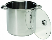 ExcelSteel 549 Stainless Steel Stockpot with Encapsulated Base, 11.4l