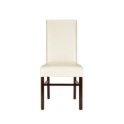 Safavieh Hudson Collection Park Slope Soft Bicast Leather Side Chairs, Cream, Set of 2