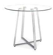 Zuo 601102 Lemon Drop Counter Table- Chrome