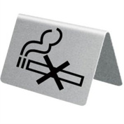 Stainless Steel Table Sign - No Smoking Sold singly.
