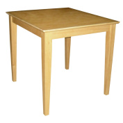 International Concepts Solid Wood Dining Table with Shaker Legs, Natural